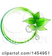 Poster, Art Print Of Green Leaf Frame Eco Design Element