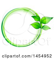Green Leaf Frame Eco Design Element