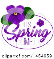 April 25th, 2017: Clipart Of A Purple Violet Flower Spring Time Design Element Royalty Free Vector Illustration by Vector Tradition SM