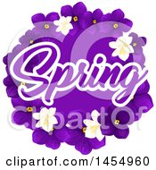 Poster, Art Print Of Purple Violet And Jasmine Flower Spring Time Design Element