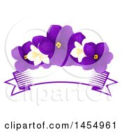 Clipart Of A Purple Violet And Jasmine Flower Design Element Royalty Free Vector Illustration by Vector Tradition SM