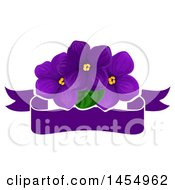 Purple Violet Flower Design Element