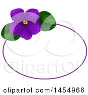 Poster, Art Print Of Purple Violet Flower Design Element