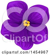 Clipart Of A Purple Violet Flower Design Element Royalty Free Vector Illustration by Vector Tradition SM