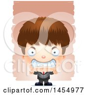 Poster, Art Print Of 3d Mad White Business Boy Against Strokes