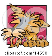 Cute Brown Terrier Dog Clipart Illustration