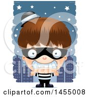Poster, Art Print Of 3d Mad White Robber Boy Against A City At Night