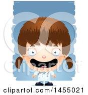 3d Happy White Girl Doctor Surgeon Over Strokes