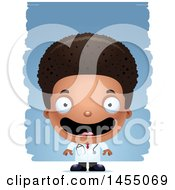 Poster, Art Print Of 3d Happy Black Boy Doctor Surgeon Over Strokes