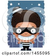 Poster, Art Print Of 3d Grinning Black Robber Boy Against A City At Night