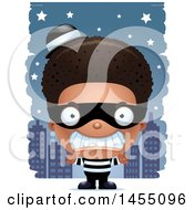 Poster, Art Print Of 3d Mad Black Robber Boy Against A City At Night