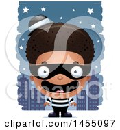 Poster, Art Print Of 3d Happy Black Robber Boy Against A City At Night
