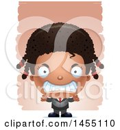 April 26th, 2017: Clipart Graphic Of A 3d Mad Black Business Girl Against Strokes Royalty Free Vector Illustration by Cory Thoman