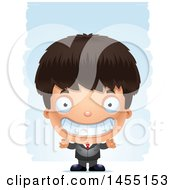 April 27th, 2017: Clipart Graphic Of A 3d Grinning Business Boy Against Strokes Royalty Free Vector Illustration by Cory Thoman