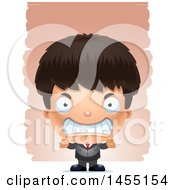 April 27th, 2017: Clipart Graphic Of A 3d Mad Business Boy Against Strokes Royalty Free Vector Illustration by Cory Thoman
