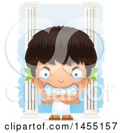 April 27th, 2017: Clipart Graphic Of A 3d Mad Greek Boy With Columns Royalty Free Vector Illustration by Cory Thoman