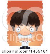 Clipart Graphic Of A 3d Mad Boy Doctor Surgeon Over Strokes Royalty Free Vector Illustration