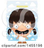 Poster, Art Print Of 3d Happy Angel Girl Over Clouds