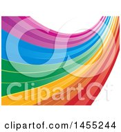 Clipart Of A Colorful Rainbow Swoosh Background Royalty Free Vector Illustration