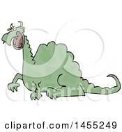 Clipart Of A Cartoon Angry Green Dragon Royalty Free Vector Illustration by djart