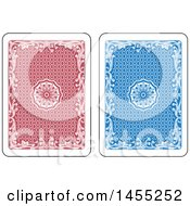 Red And Blue Playing Card Backs