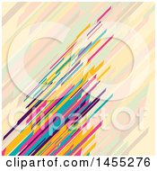Clipart Of A Retro Colorful Low Poly Stripes Background Royalty Free Vector Illustration