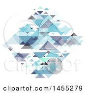 Clipart Of A Diamond Formed Of Geometric Pyramids On White Royalty Free Vector Illustration