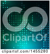 Clipart Of A Techno Background Of Lattice On Blue And Green Royalty Free Vector Illustration