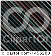 Clipart Of A Background Of Retro Colorful Stripes Royalty Free Vector Illustration