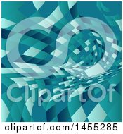 Clipart Of A Geometric Warped Tunnel Background Royalty Free Vector Illustration by KJ Pargeter