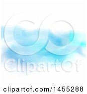 Clipart Of A Watercolor Background Of Blues On White Royalty Free Vector Illustration