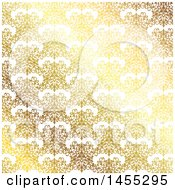 Clipart Of A Gradient Golden Damask Background Royalty Free Vector Illustration by KJ Pargeter