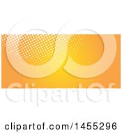 Clipart Of A Halftone Dot And Orange Facebook Or Website Banner Design Element Royalty Free Vector Illustration