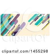 Clipart Of A Business Facebook Or Website Banner Design With Retro Colorful Shards On Tan Royalty Free Vector Illustration