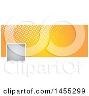 Clipart Of A Halftone Dot And Orange Facebook Or Website Banner Design Element With Space For A Logo Or Photo Royalty Free Vector Illustration