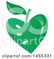 Clipart Of A Green Vegan Apple Design Royalty Free Vector Illustration