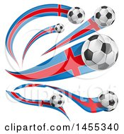 Poster, Art Print Of Soccer Ball And Argentine Flag Ribbon