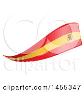 Clipart Of A Spanish Flag Banner Design Element Royalty Free Vector Illustration