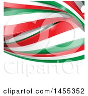 Clipart Of A Background Of Italian Flag Ribbon Banners Over White Text Space Royalty Free Vector Illustration