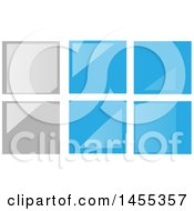 Clipart Of A Gray And Blue Glass Tile Or Window Design Royalty Free Vector Illustration by Domenico Condello