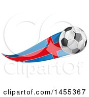 Clipart Of A Soccer Ball And Argentine Flag Ribbon Royalty Free Vector Illustration by Domenico Condello
