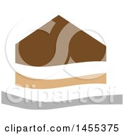 Clipart Of A Brown Tan And Gray House Design Royalty Free Vector Illustration