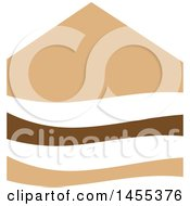 Clipart Of A Brown And Tan House Design Royalty Free Vector Illustration by Domenico Condello