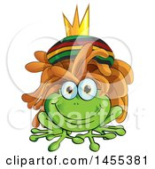 Clipart Of A Cartoon Happy Rasta Frog With Dreadlocks Royalty Free Vector Illustration