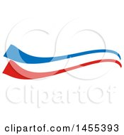 Clipart Of A French Flag Themed Swoosh Design Element Royalty Free Vector Illustration
