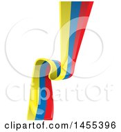 Poster, Art Print Of Vertical Colombian Ribbon Banner Flag