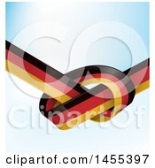 Poster, Art Print Of Knotted German Ribbon Flag Over Gradient