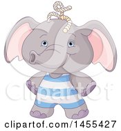 April 26th, 2017: Clipart Of A Cute Baby Boy Elephant Royalty Free Vector Illustration by Pushkin
