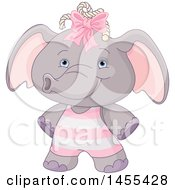 April 26th, 2017: Clipart Of A Cute Baby Girl Elephant Royalty Free Vector Illustration by Pushkin