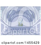 Clipart Of A Medieval Palace Interior Royalty Free Vector Illustration